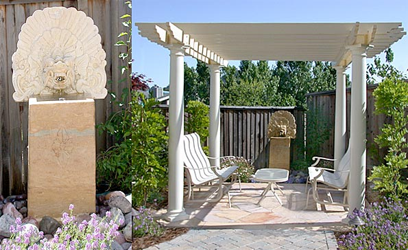 Pergola with Fountain