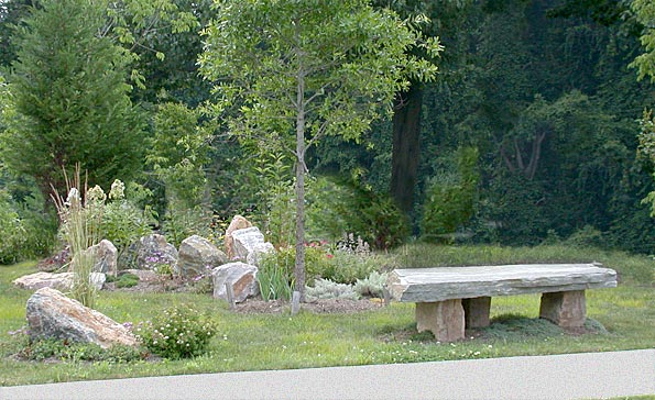 Stone Contemplation Bench
